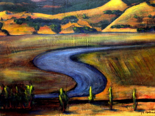 Petaluma River, 32x36 acrylic on panel, $6,000