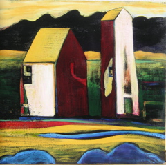 Pump House, 36x36 acrylic on panel, $5,500