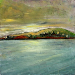 Tomales Bay, 24x24 acrylic on panel, $3,800.