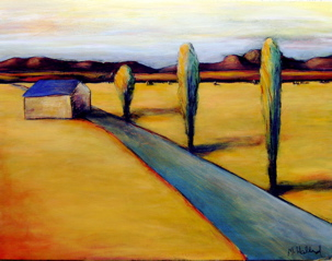 Blue Shale Road 2, 24x32 acrylic on panel, $4,800.
